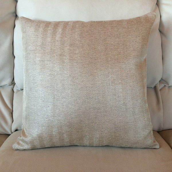 Classy HERRINGBONE Linen Looks MACQUIRE JACQUARD Accent Decor Throw Pillow Case
