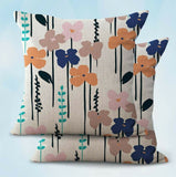 2PCS flower botanical cushion cover discount pillowcase for couch