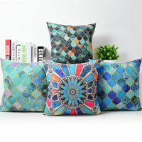 "18"" Swirl Marks Cotton Linen Cushion Cover Throw Pillow Case Home Sofa Decor New"