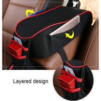 Universal Memory Foam Car Armrests Seat Cover Cushion Center Console Soft Pillow