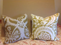 Pair of Lacefield Designs Lisbon Bamboo accent pillow casings made in USA