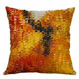 Cover Decor Home Throw Geometry Cushion Cotton Linen Print Pillow 18'' Case