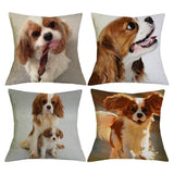 BE_ Dog Puppy Linen Throw Pillow Case Cushion Cover Sofa Bed Cafe Office Car Dec