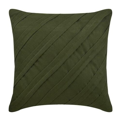 20x20 inch Couch Pillowcase Handmade Olive Green, Suede - Contemporary Olive