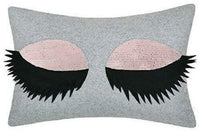 Jwh 3D Eyelash Accent Pillow Case Magic 2 Colors Reversible Sequins Cushion Cove