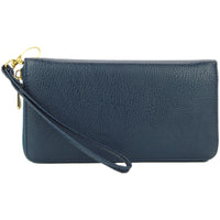 Navy  Zippered Wallet Wristlet