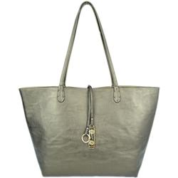 Pewter/Gold Shimmer Reversible Tote