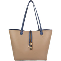 Khaki version of the 2 piece Navy/Khaki Reversible Tote