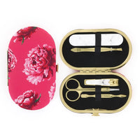 Hot Pink Rose Floral Manicure Set