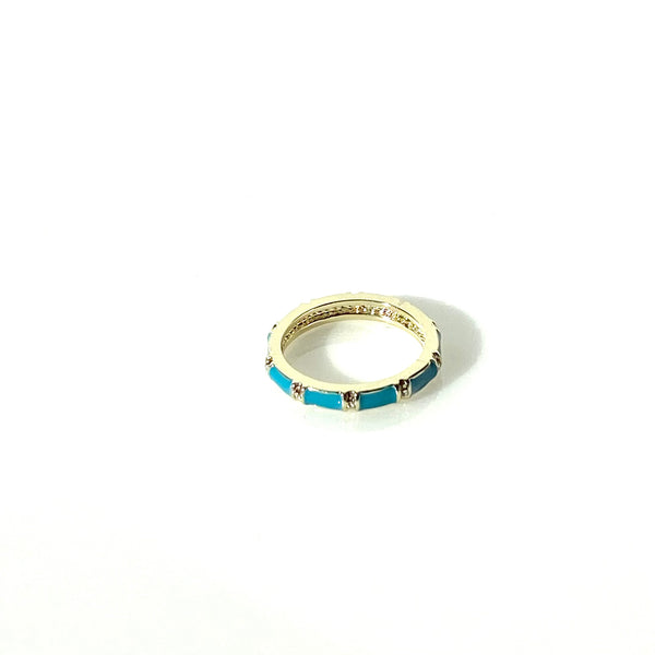 Royal blue enamel bamboo ring in sizes 5,6,7,8