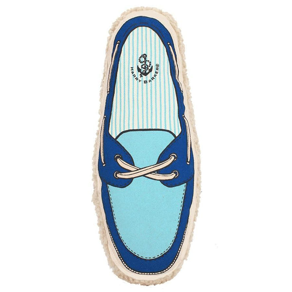 Small canvas boat shoe in royal and baby blues