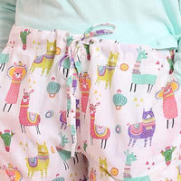 Closeup of Party Llama PJ Pants