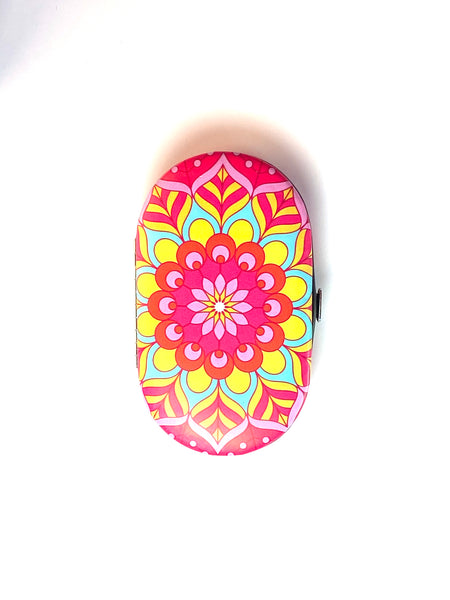 Pink Yellow Manicure Set
