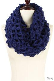 Navy Open Knit Infinity Scarf