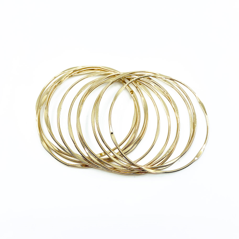 Set of 12 delicate gold bangles
