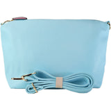 The baby blue reversible tote's inner pouch, also in baby blue