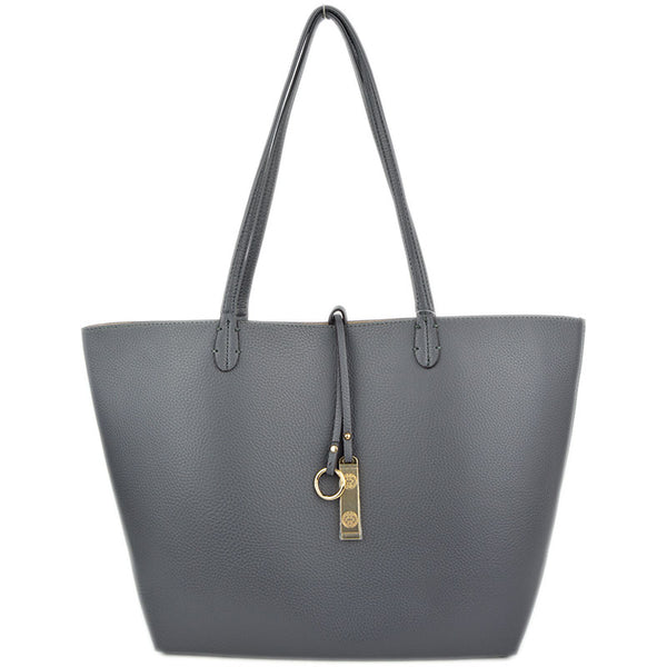 Gray/Beige Two Piece Reversible Tote