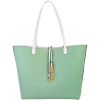 White Tote Reversed to the Mint Side