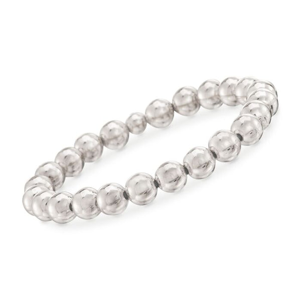 12MM Silver Ball Stretch