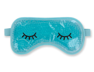 "Turquoise ""Treat Yourself"" gel eye mask"