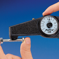 Simple, rugged mechanical dial-type coating thickness gauge. Measures coating thickness on ferrous substrates. (Banana Gauge)