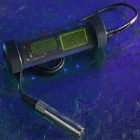 UMX-2 underwater material and coating thickness gauge, designed for offshore inspections, and rated to a depth of 1000 feet (300 meters).