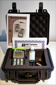 Nova TG110-DL General Purpose Ultrasonic Thickness Gauge contents of complete kit - Advanced NDT Limited