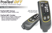 Load image into Gallery viewer, PosiTest DFT Coating Thickness Gauge Versions: DFT Ferrous or DFT Combo