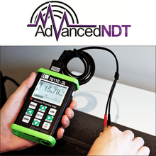 Load image into Gallery viewer, Nova TG110-DL General Purpose Ultrasonic Thickness Gauge in Action Testing Steel Pipe Thickness - Advanced NDT Limited