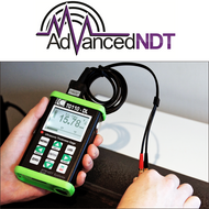 Nova TG110-DL General Purpose Ultrasonic Thickness Gauge in Action Testing Steel Pipe Thickness - Advanced NDT Limited