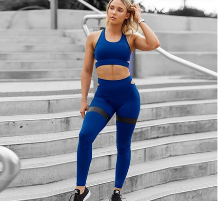 Women's Two Piece Set In Blue