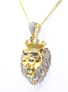 "Diamond ""Lion"" Pendant with 1.25ct of Diamonds set in 10K Gold"