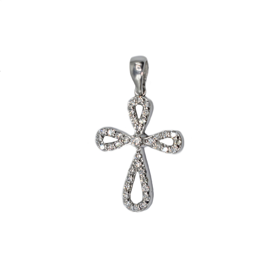 14K Gold Cross with 0.38ct of Diamonds