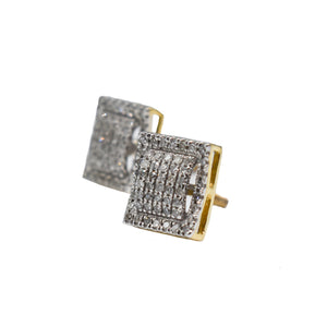 10K Gold Earrings with 0.25ct of Diamonds
