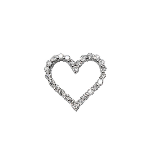 14K Gold mini Heart Pendant with 0.30ct of Diamonds