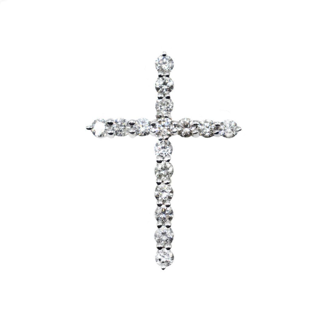 14K Gold Cross with 0.78ct of Diamonds