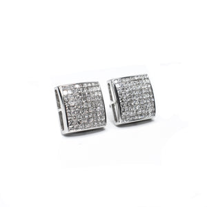 14K Princess Cut Diamond Earrings with 1.25ct of Diamonds