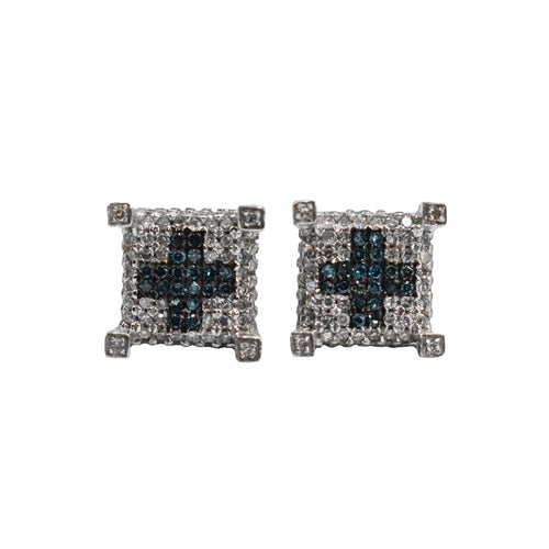 14K Gold Earrings with 1.25ct of Diamonds