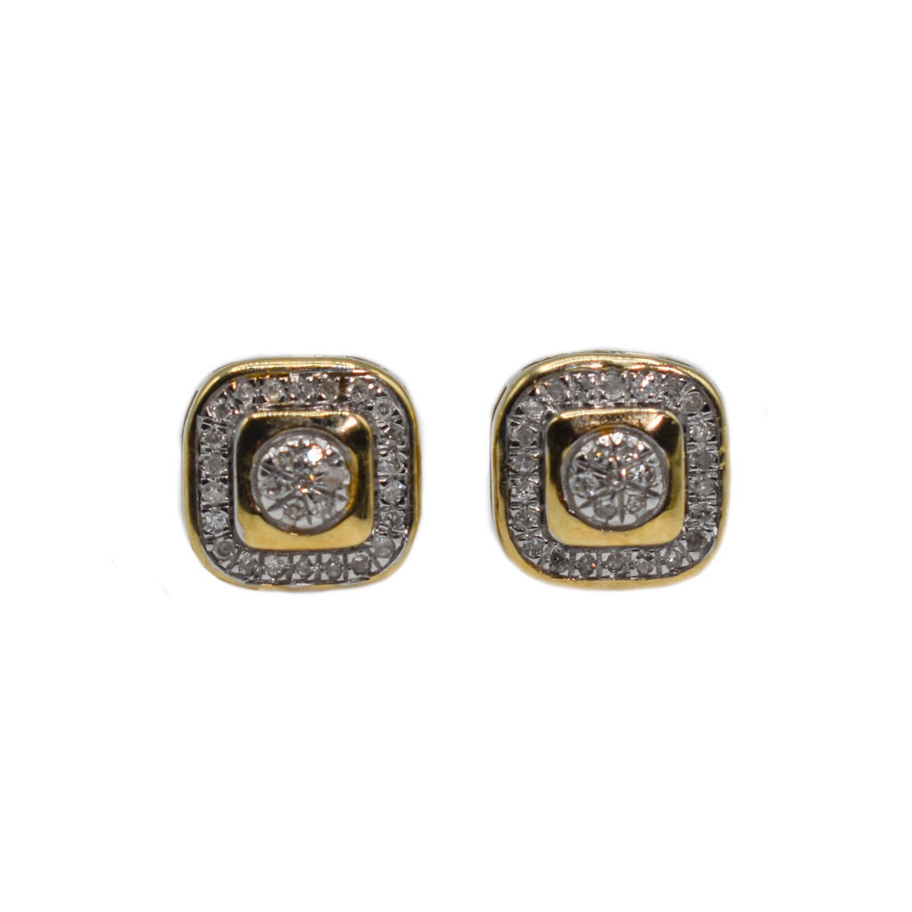 10K Gold Earrings with Diamonds