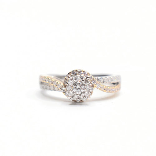 14K Gold Engagement Ring with 0.82ct diamonds