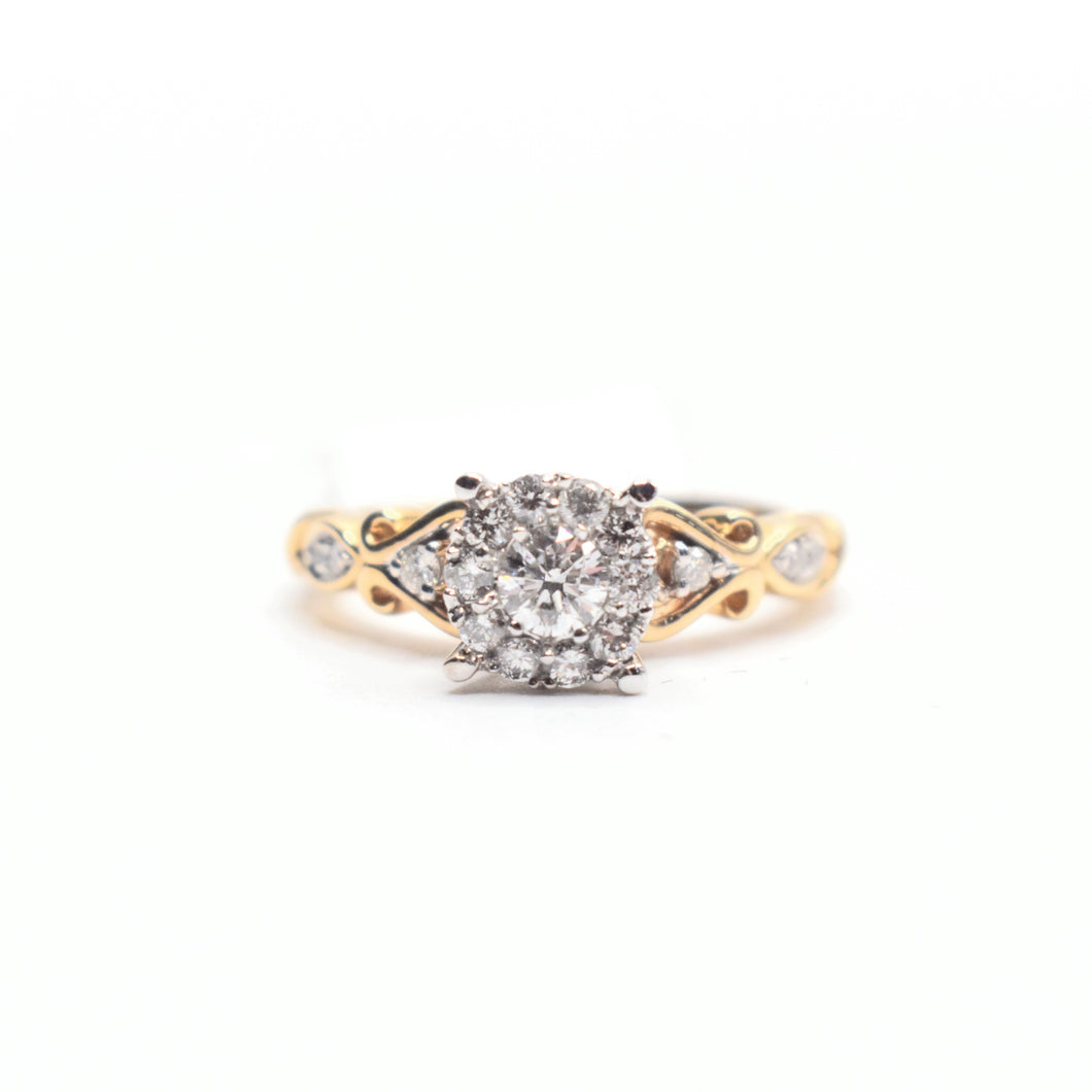 14K Gold Engagement Ring with 0.63ct diamonds