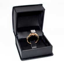 Load image into Gallery viewer, 14K Gold Engagement Ring with 0.63ct diamonds