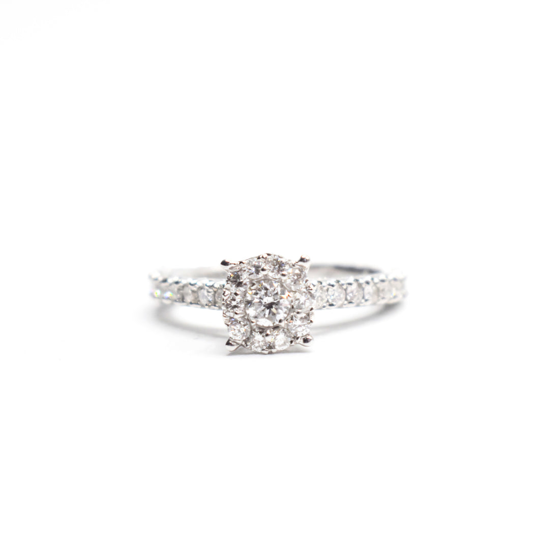 14K Gold Engagement Ring with 0.95ct Diamonds