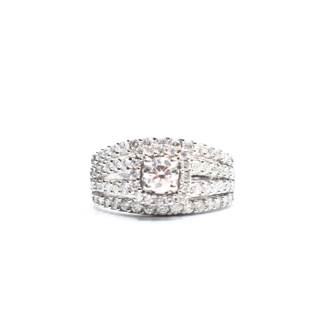 14K Engagement Ring with 3.50ct of Round Diamonds