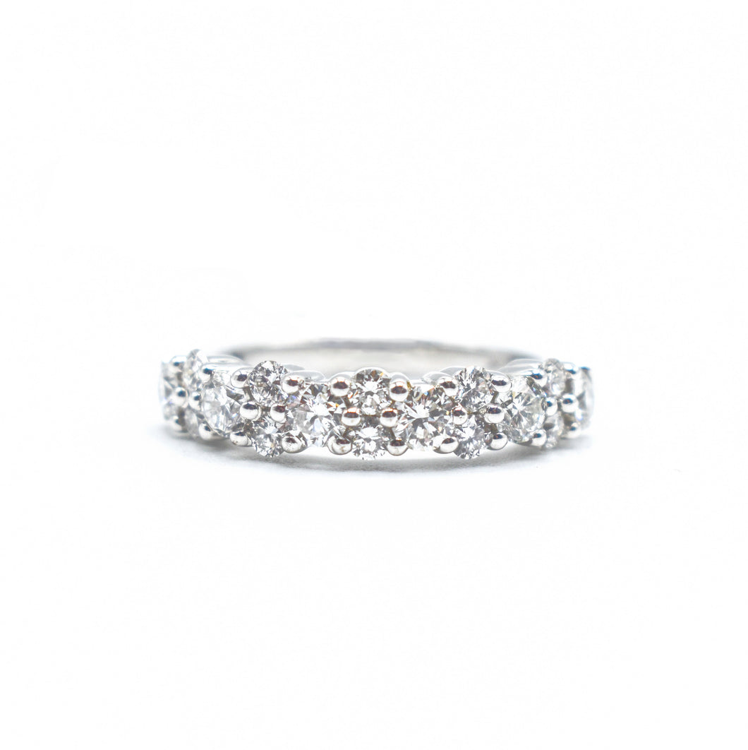 Platinum Band with 2.0ct of Round Diamonds