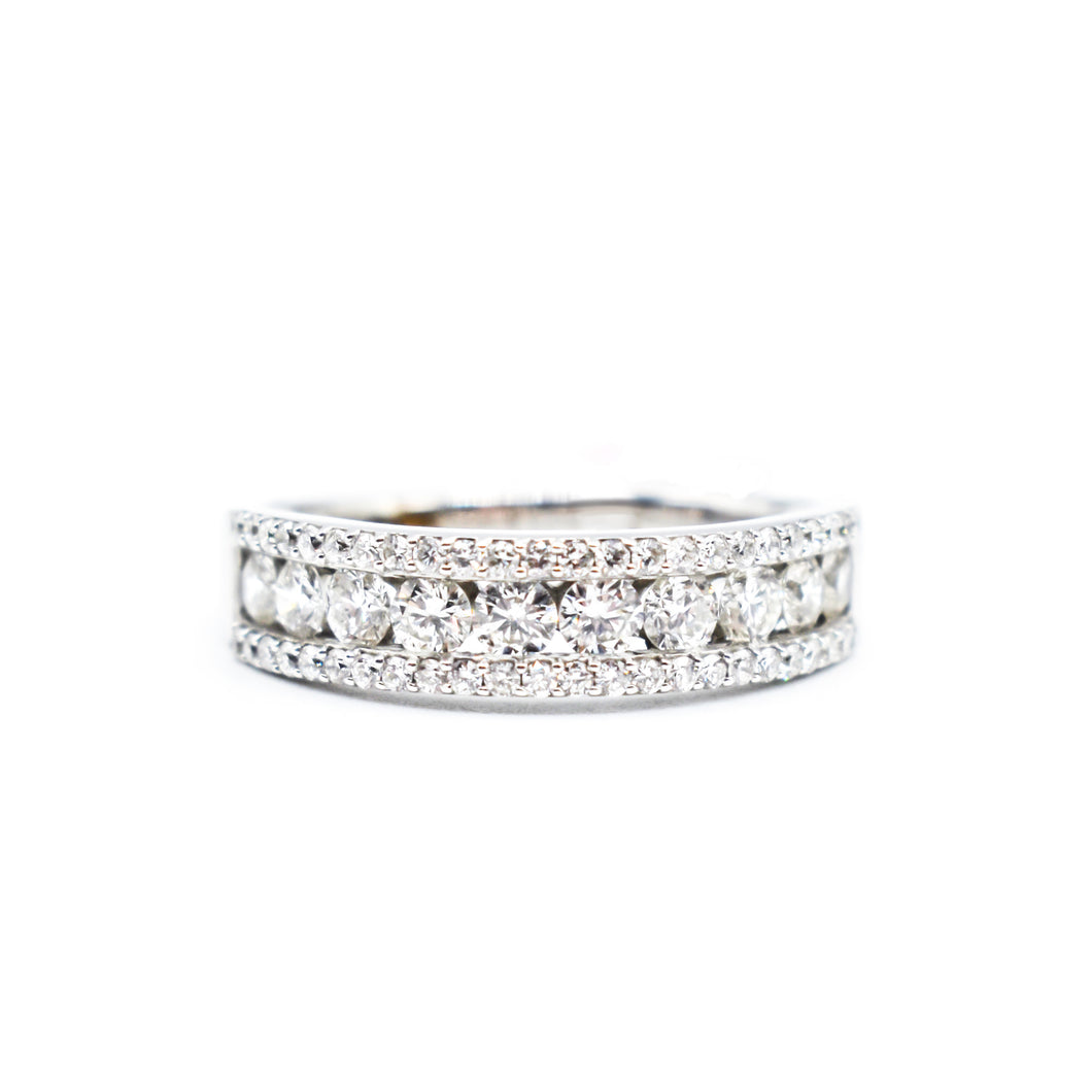 18K Gold Band with 2ct of Diamonds