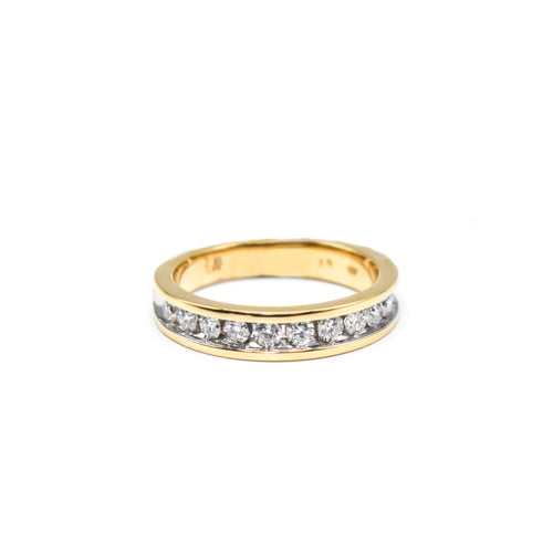14K Gold Men's Wedding Band with 0.50ct of Diamonds