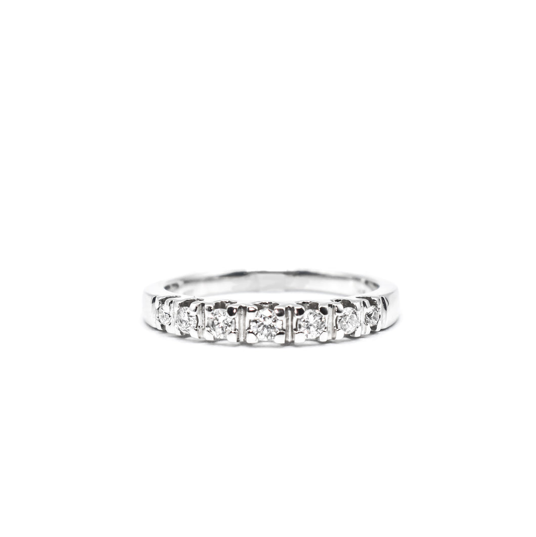 14K Gold Wedding Band with 0.27ct of Diamonds