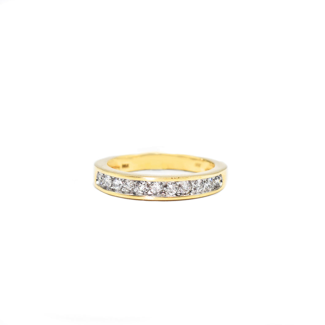 14K Gold Men's Diamond Band with 0.85ct of Diamonds