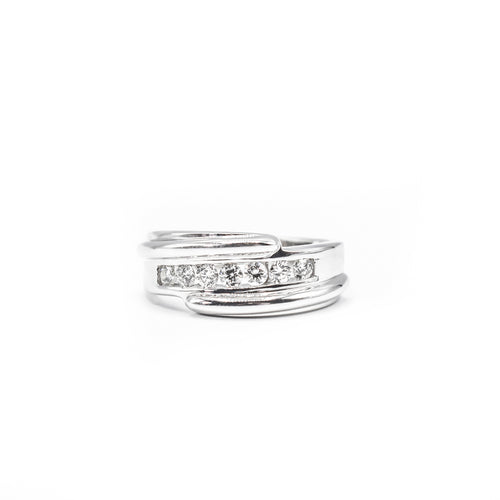 14K Gold Men's Band with 0.50ct of Diamonds
